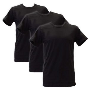 Apollo Heren T-shirts O-Neck 3-pack Black-M