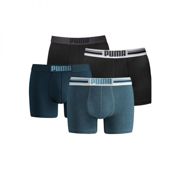 Puma boxershorts Placed Logo 4-pack Zwart/Denim-S