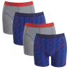 Vinnie-G boxershorts Flame Blue Print Grey 4-pack S